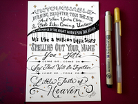 Lettering Lyrics, Taylor Swift