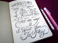 Lettering Lyrics, Rihanna - Stay