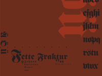 Typography through the Centuries—Fette Fraktur