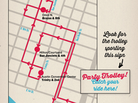 SXSW Party Trolley Map