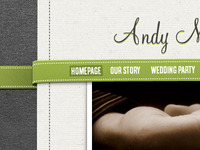 Wedding Site Navigation