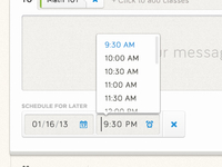 Time Scheduler Drop Down