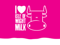 I Love Isle Of Wight Milk Logo