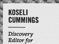 Koseli Cummings Card 400