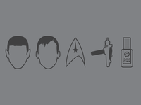 Star Trek Icon Illustrations