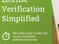 License Verification Simplified