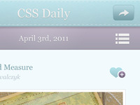 CSS Daily iPhone App