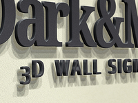 Wall Sign - Logo Mockup