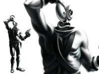 Earthworm Jim Painting