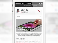 ACA IT-Solutions mobile website mockup