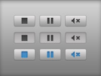 Button states for audio in Mac app