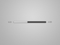 Audio progress bar