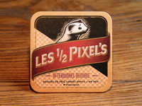 Les Demi-Pixels real printed beer mat