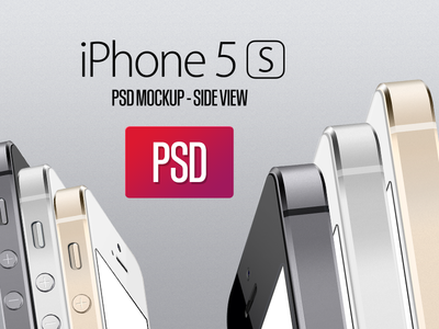 Download iPhone 5S Side View PSD