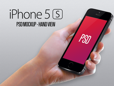 Download iPhone 5S Natural Hand Mockup PSD