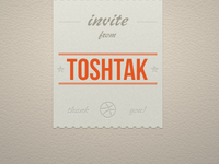 Invite from Tosh Tak