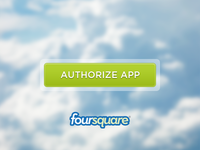 Authorize app button