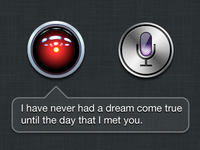 Love is in the air. (HAL 9000 + Siri)