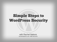 WordPress Security Talk, Slide 1