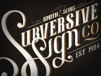 Subversive Sign Co logo development