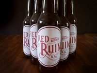 Red Ruin Homebrew label