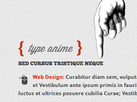 Type Anime - Scrolling Html5 Coming Soon Template