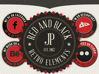 Retro Web Elements - Red & Black Pack