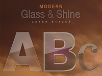 Free Modern Glass & Shine Layer Styles