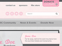 Website design for breast cancer awareness organization