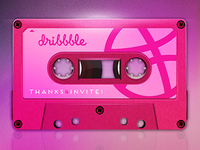Audio cassette (Hello Dribbble!)