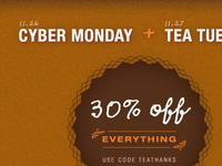 Sanctuary T Cyber Monday Banner