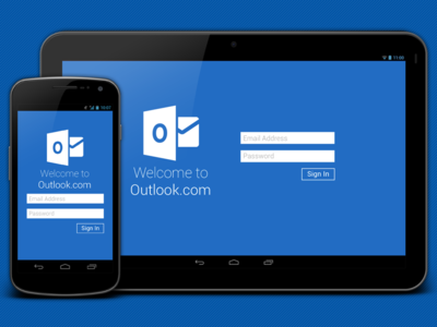Outlook.com App Redesign - Tablet Version