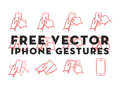 Download Free Vector iPhone Gestures