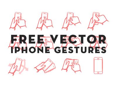 Download Free Vector iPhone Gestures