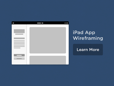 iPad App Wireframing
