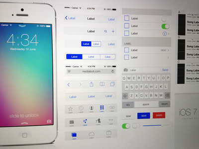 Download iOS 7 UI Kit Free Download .psd