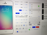 iOS 7 UI Kit (Free Download .psd)