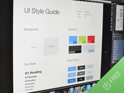 Download UI Style Guide Template PSD