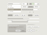 Beige Web Element - FREE download