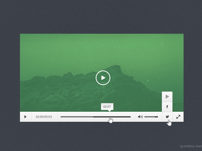Download Freebie – Video Player PSD