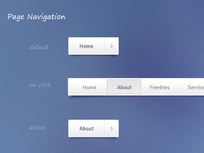 Download Freebie – Navigation (Free PSD and CSS)