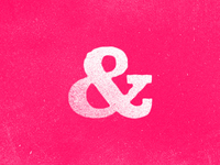 Distressed Hot Pink Ampersand