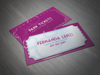 Park Tickets - Business Card Design