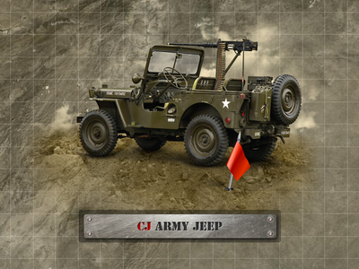 CJ Army Jeep