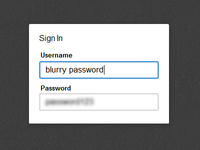 CSS3 Blurry Password Input