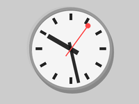 Pure CSS Swiss Railway Clock