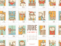 The Ink Nest June Calendar