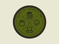 St. Patrick's Day Coaster