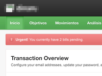 Transaction Dashboard Notification