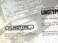 Linotype the Film Screening Poster